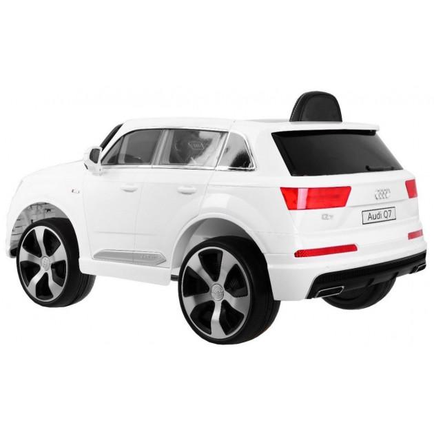 Elektrické autíčka licencované - Elektrické autíčko Audi Q7 S-line - biela - 1