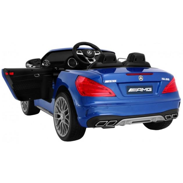 Elektrické autíčka licencované - Elektrické autíčko Mercedes AMG SL65 - modrá lak - 1