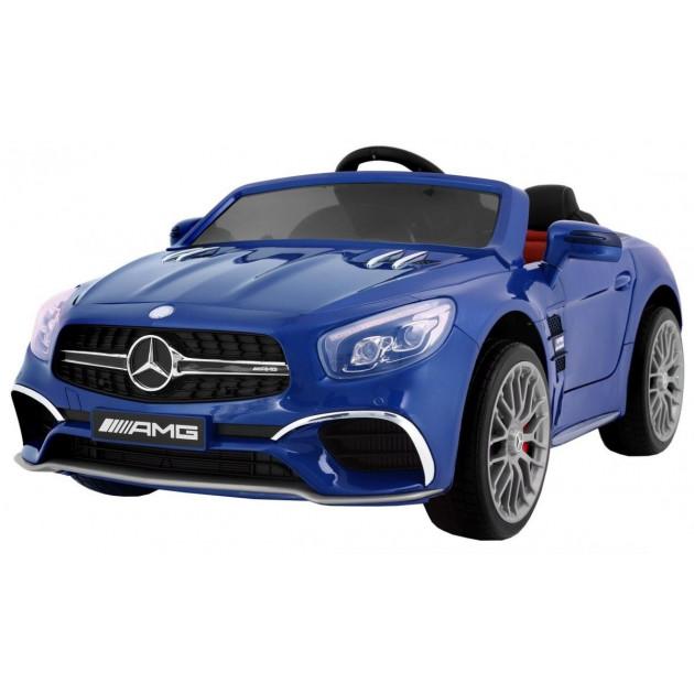Elektrické autíčka licencované - Elektrické autíčko Mercedes AMG SL65 - modrá lak - 2