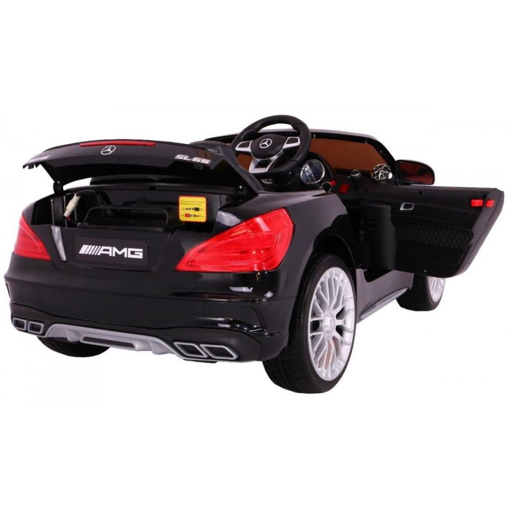 Elektrické autíčka licencované - Elektrické autíčko Mercedes AMG SL65 - čierna lak - 4