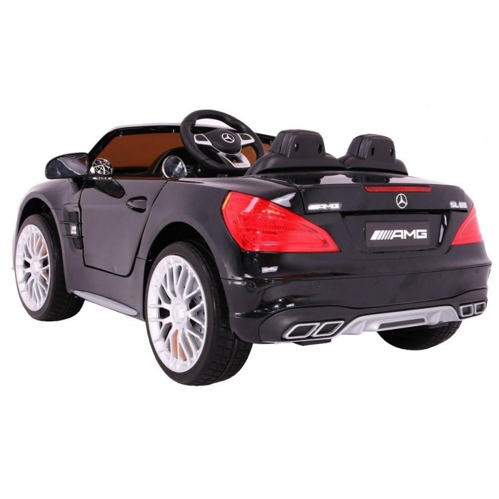 Elektrické autíčka licencované - Elektrické autíčko Mercedes AMG SL65 - čierna lak - 1