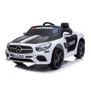 Elektrické autíčko Mercedes SL500 POLICE - biela