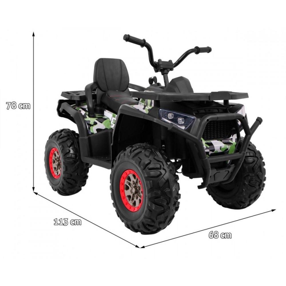 Elektrické štvorkolky - Elektrická štvorkolka Quad ATV Desert - kamufláž - 3