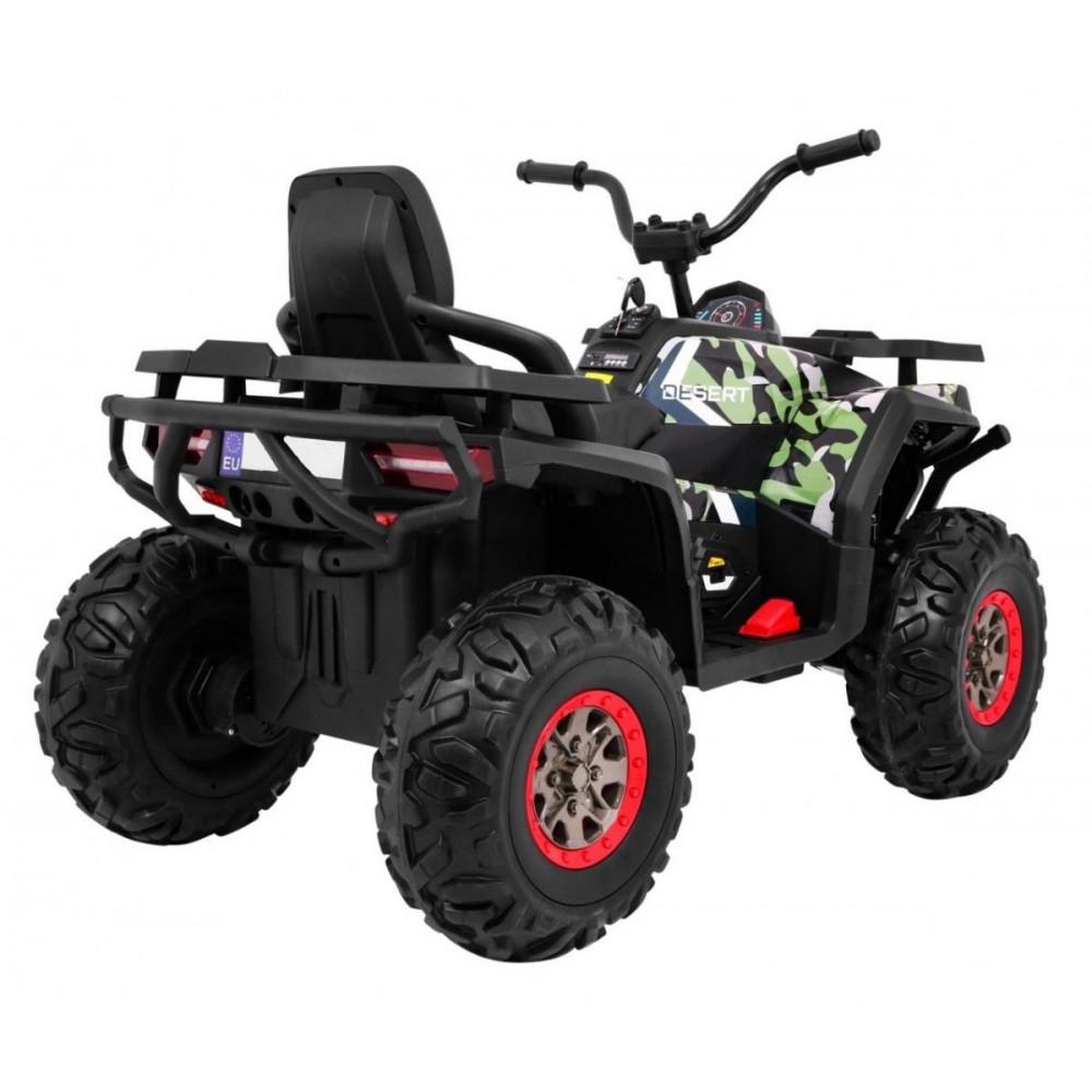 Elektrické štvorkolky - Elektrická štvorkolka Quad ATV Desert - kamufláž - 6