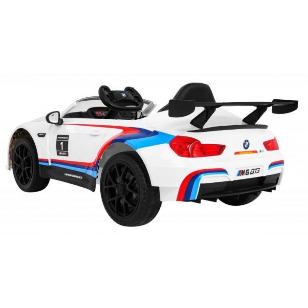 Elektrické autíčka licencované - Elektrické autíčko BMW M6 GT3 - biela - 1