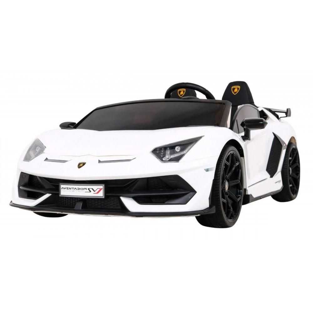 Elektrické autíčka - Driftovacie Lamborghini Aventador SVJ - biela - 2