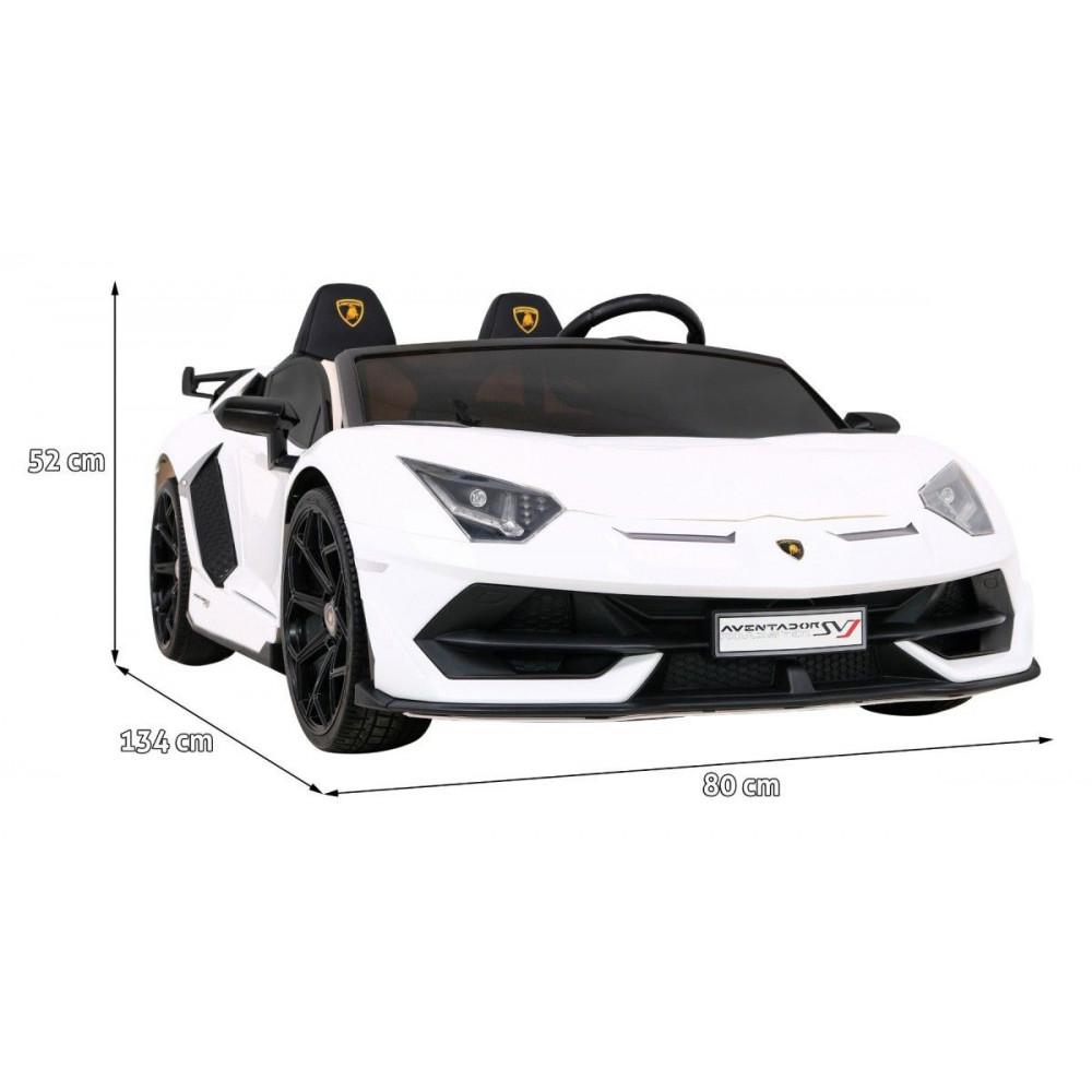 Elektrické autíčka - Driftovacie Lamborghini Aventador SVJ - biela - 3