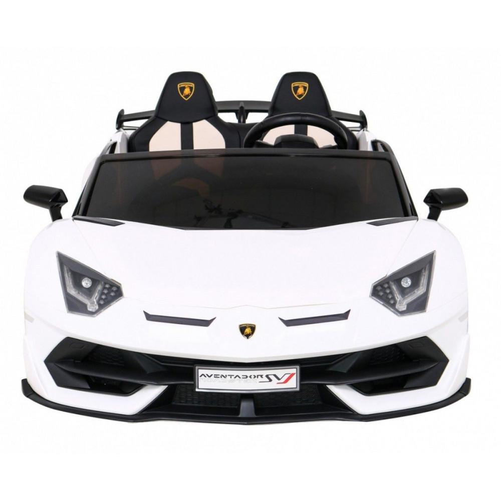 Elektrické autíčka - Driftovacie Lamborghini Aventador SVJ - biela - 7