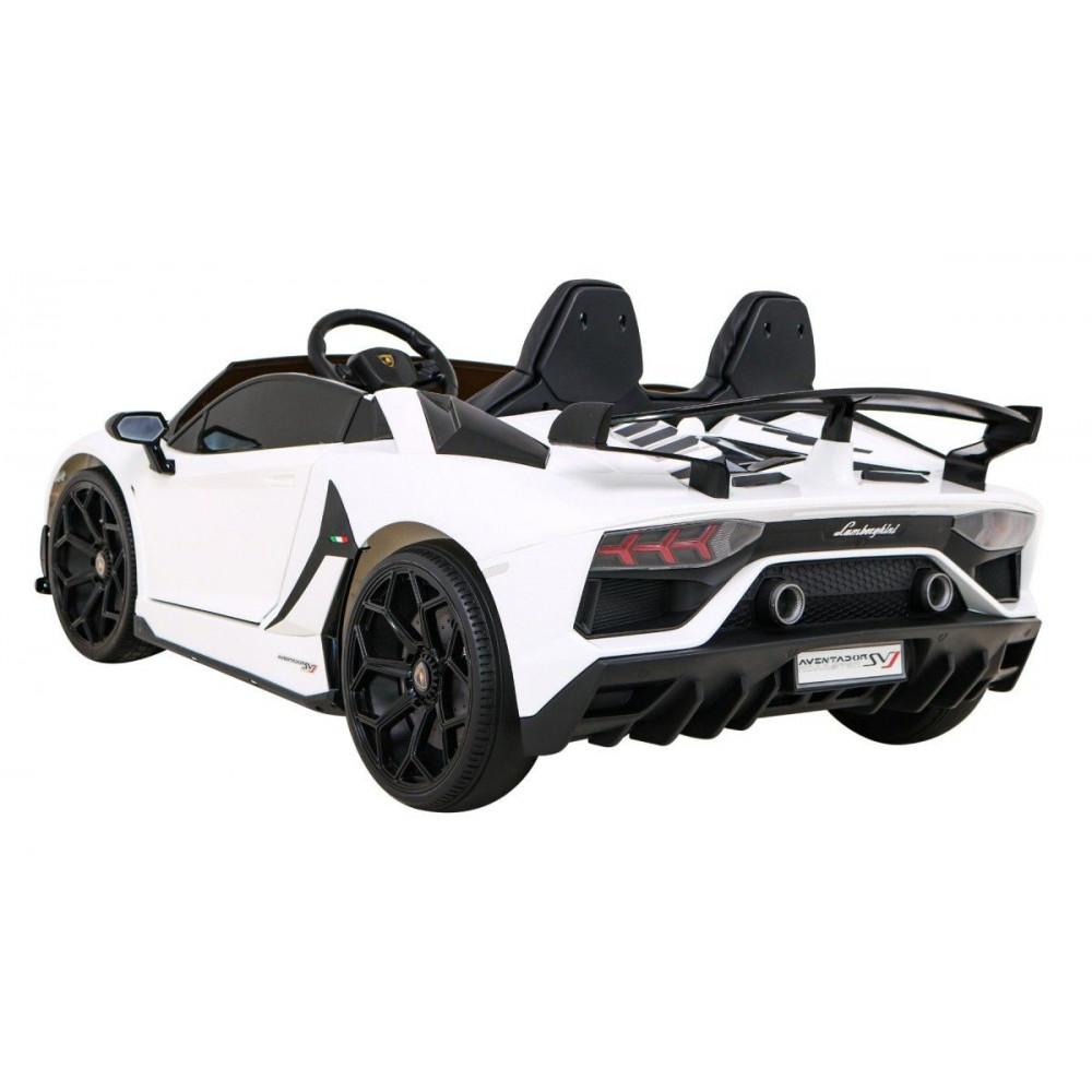 Elektrické autíčka - Driftovacie Lamborghini Aventador SVJ - biela - 1