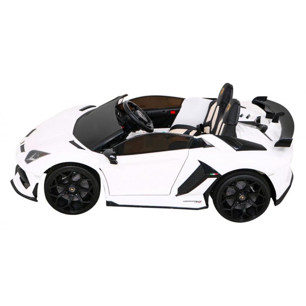 Elektrické autíčka - Driftovacie Lamborghini Aventador SVJ - biela - 4