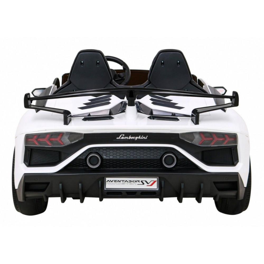 Elektrické autíčka - Driftovacie Lamborghini Aventador SVJ - biela - 8
