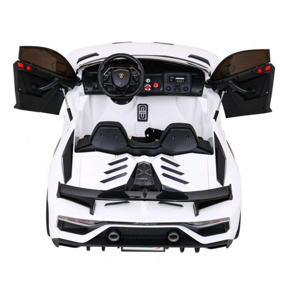 Elektrické autíčka - Driftovacie Lamborghini Aventador SVJ - biela - 5