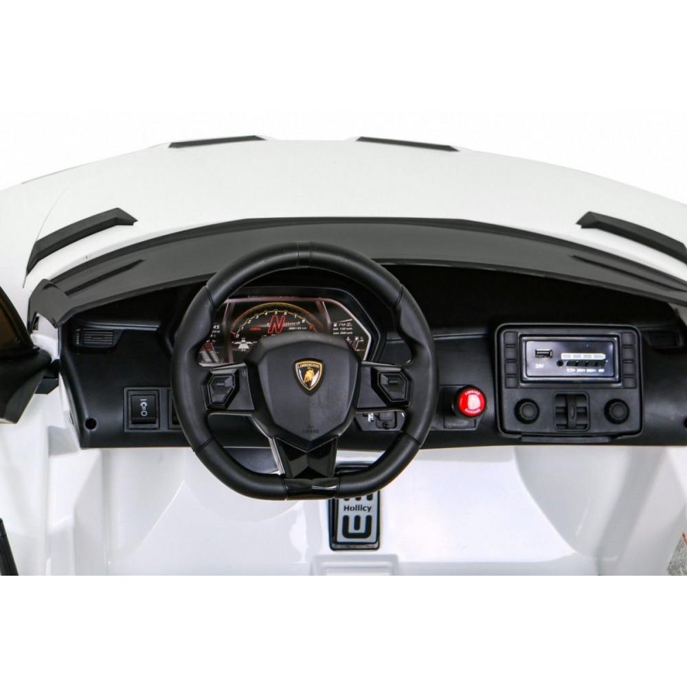 Elektrické autíčka - Driftovacie Lamborghini Aventador SVJ - biela - 15