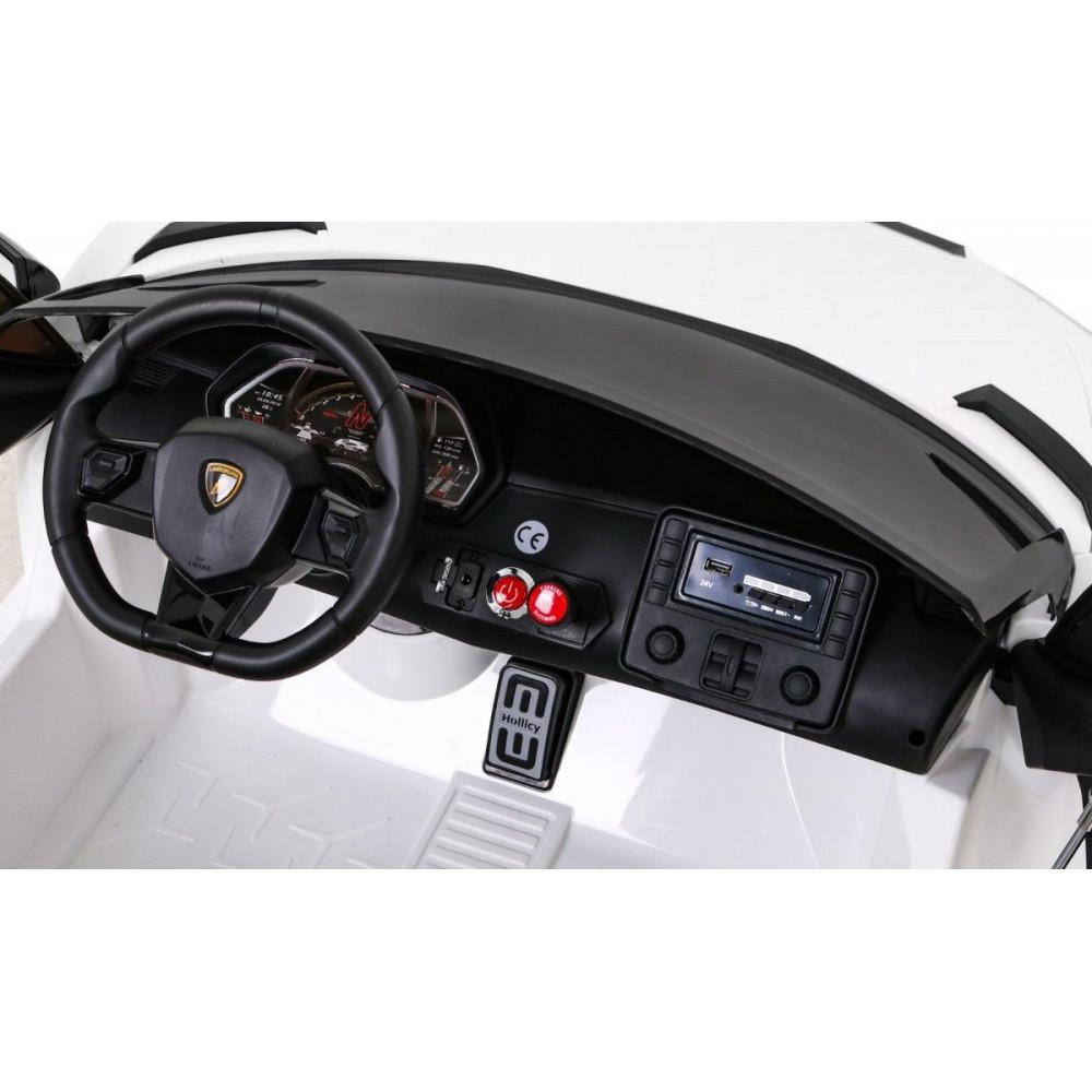 Elektrické autíčka - Driftovacie Lamborghini Aventador SVJ - biela - 14
