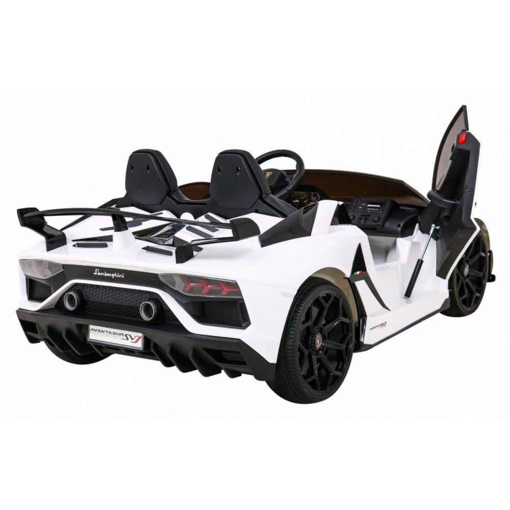 Elektrické autíčka - Driftovacie Lamborghini Aventador SVJ - biela - 6