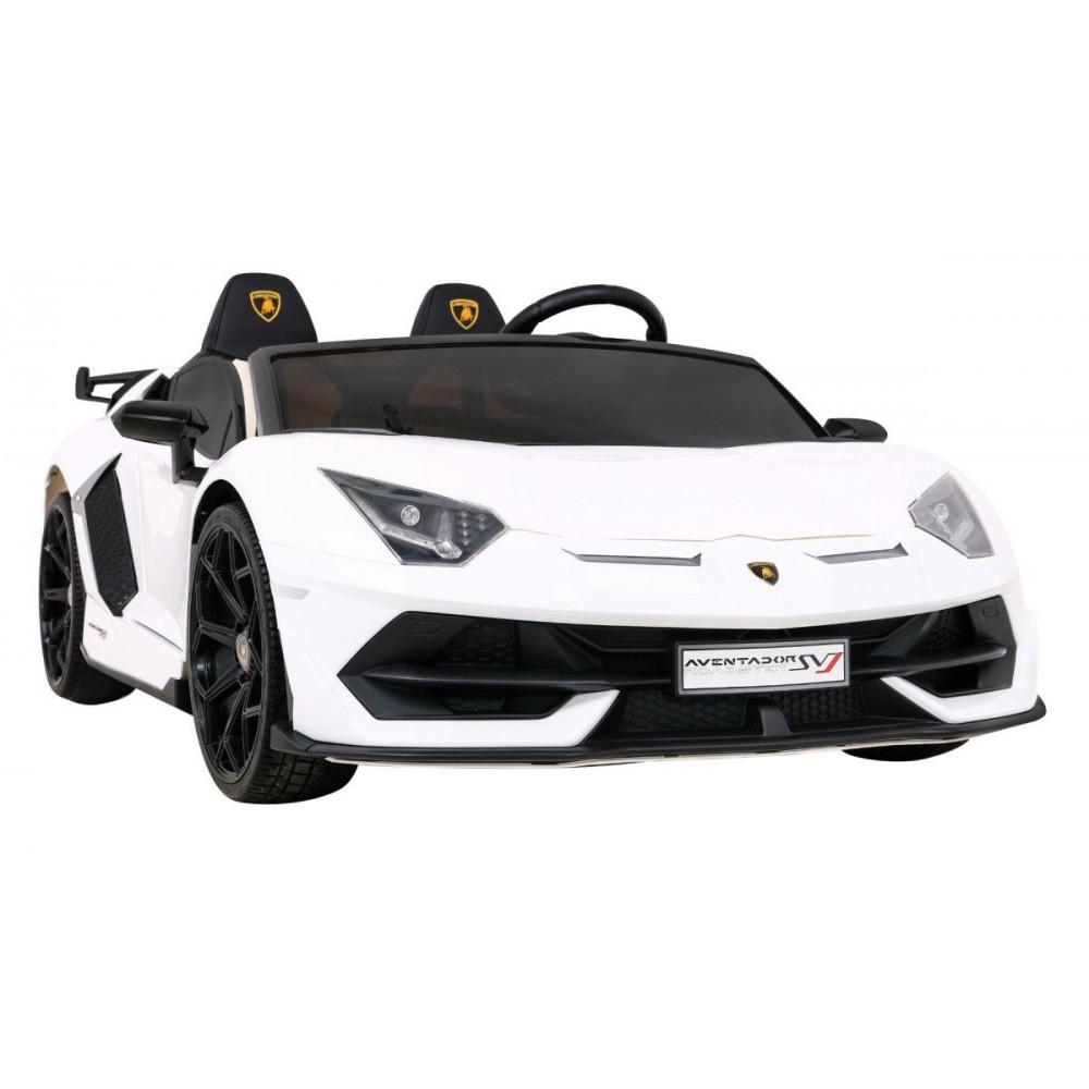 Elektrické autíčka - Driftovacie Lamborghini Aventador SVJ - biela - 10
