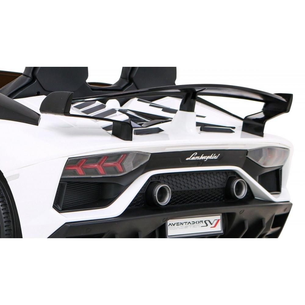 Elektrické autíčka - Driftovacie Lamborghini Aventador SVJ - biela - 12