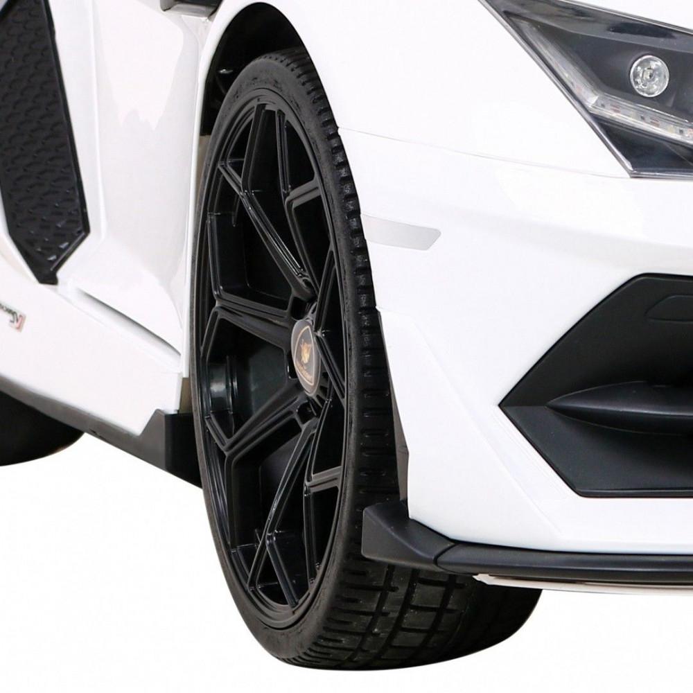 Elektrické autíčka - Driftovacie Lamborghini Aventador SVJ - biela - 13