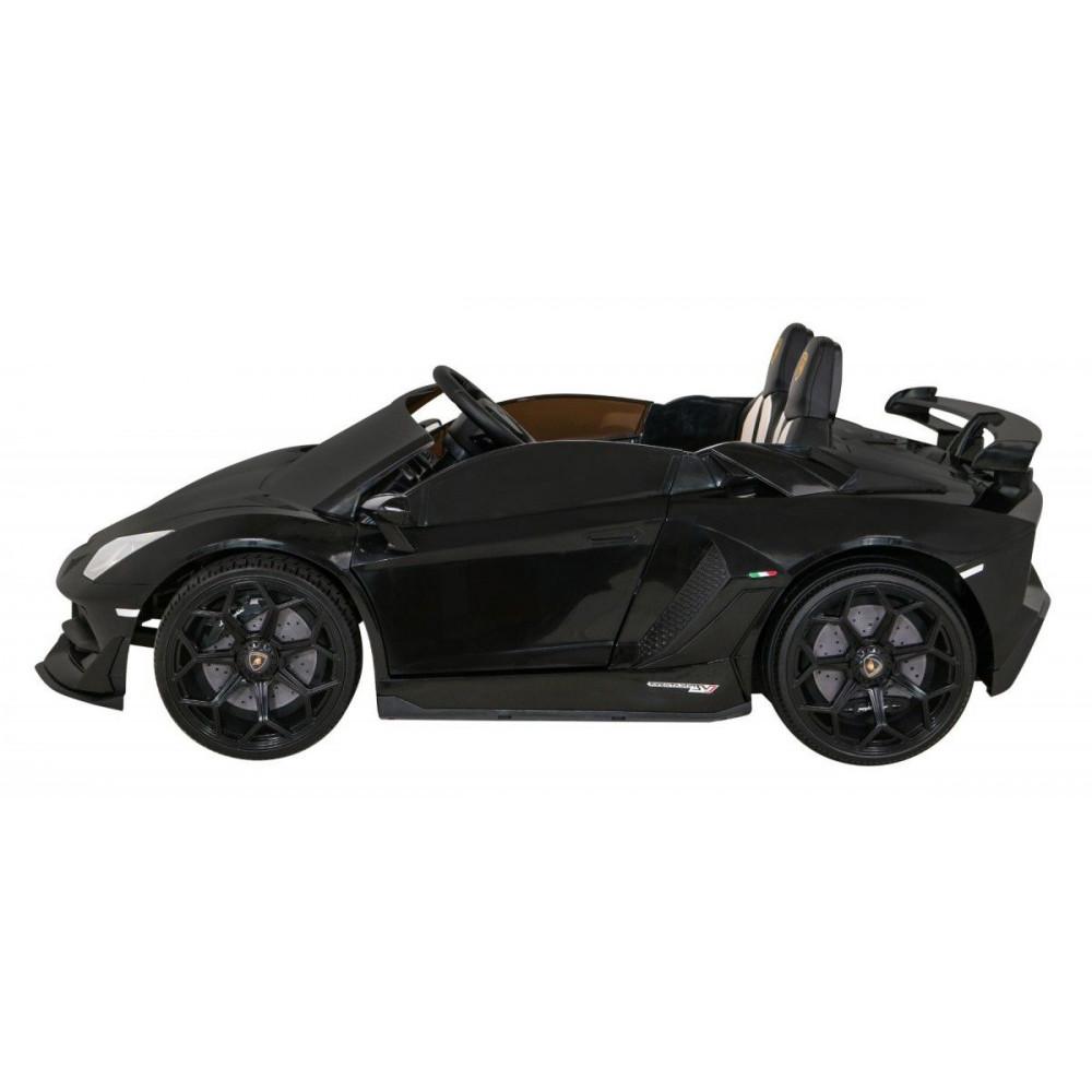 Elektrické autíčka - Driftovacie Lamborghini Aventador SVJ - čierna - 4