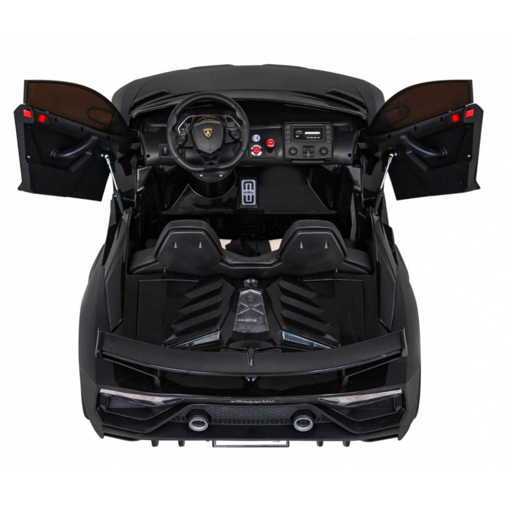 Elektrické autíčka - Driftovacie Lamborghini Aventador SVJ - čierna - 5