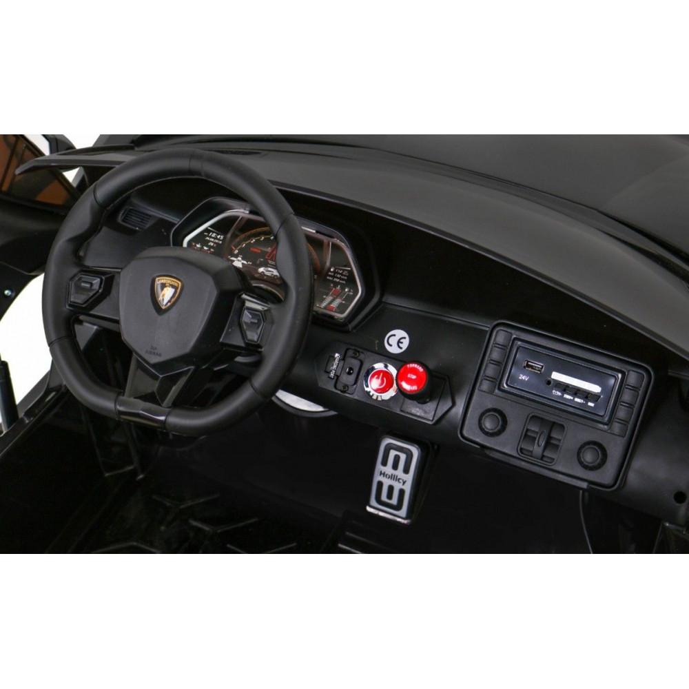 Elektrické autíčka - Driftovacie Lamborghini Aventador SVJ - čierna - 17