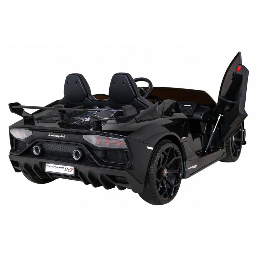 Elektrické autíčka - Driftovacie Lamborghini Aventador SVJ - čierna - 6