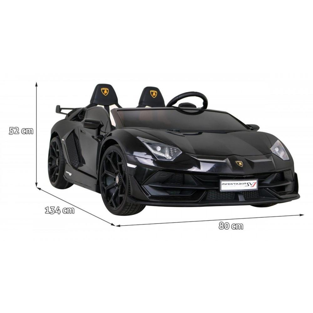 Elektrické autíčka - Driftovacie Lamborghini Aventador SVJ - čierna - 3