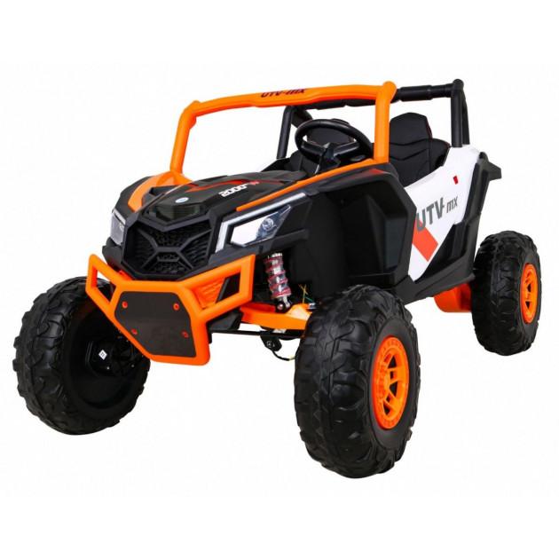 Elektrické autíčka dvojmiestne - Elektrické autíčko UTV-MX STRONG - oranžová - 2