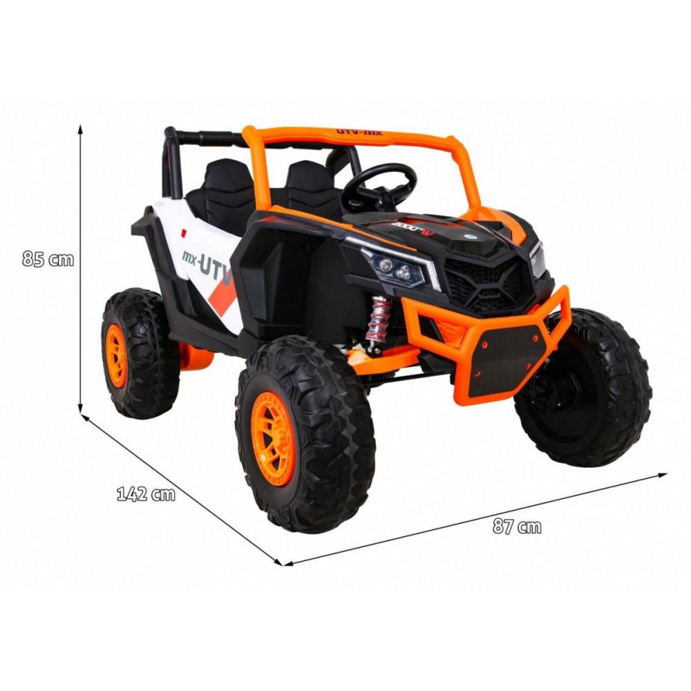 Elektrické autíčka dvojmiestne - Elektrické autíčko UTV-MX STRONG - oranžová - 3