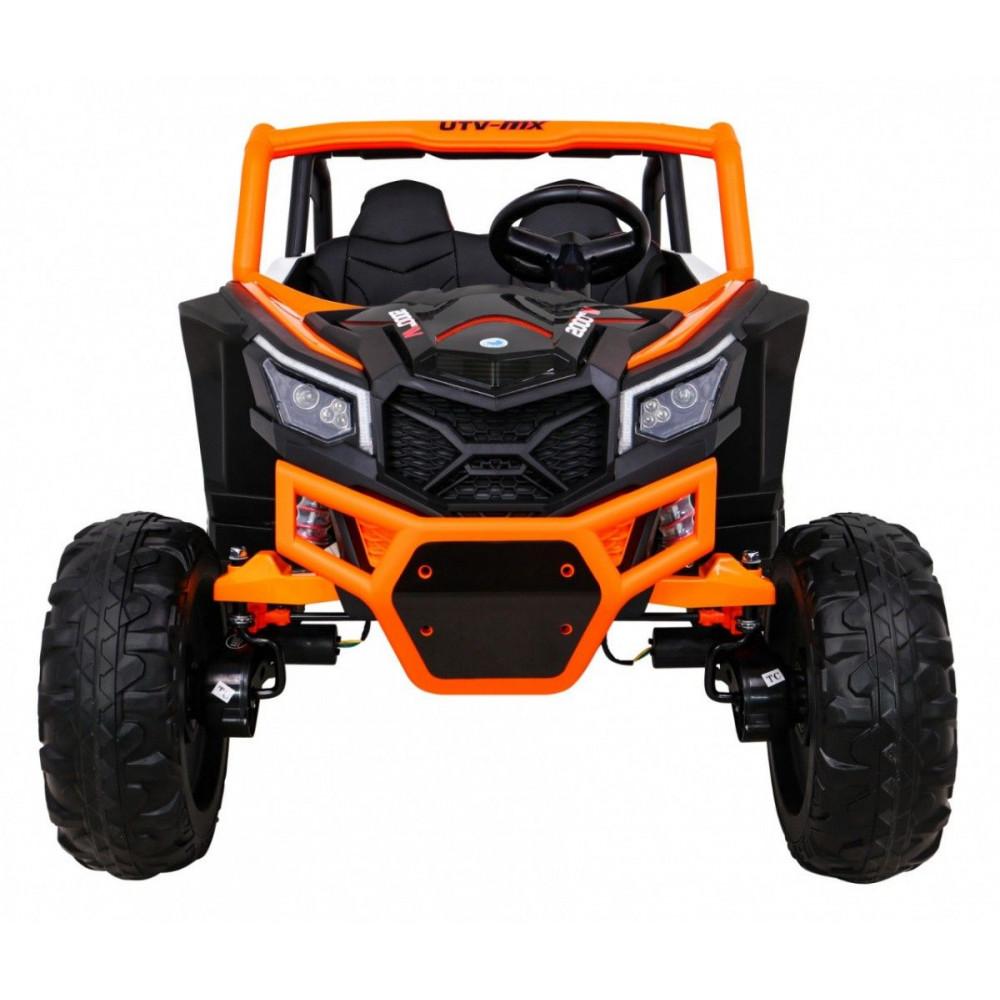 Elektrické autíčka dvojmiestne - Elektrické autíčko UTV-MX STRONG - oranžová - 8