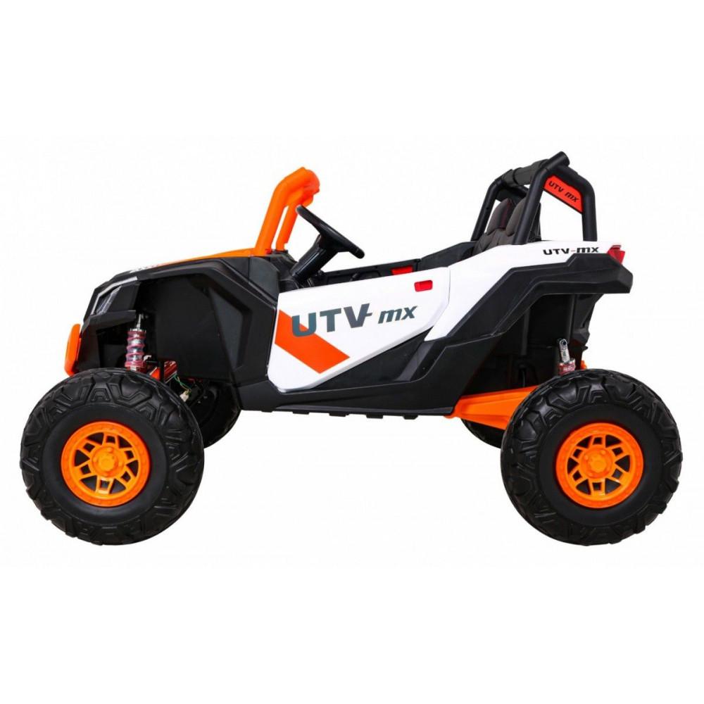 Elektrické autíčka dvojmiestne - Elektrické autíčko UTV-MX STRONG - oranžová - 4