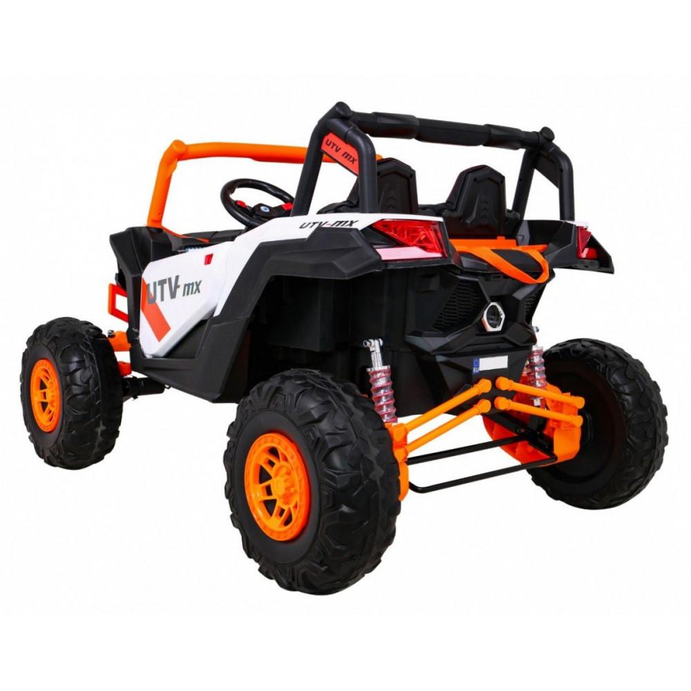 Elektrické autíčka dvojmiestne - Elektrické autíčko UTV-MX STRONG - oranžová - 1