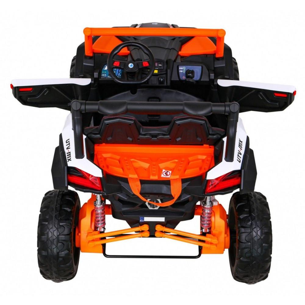Elektrické autíčka dvojmiestne - Elektrické autíčko UTV-MX STRONG - oranžová - 5