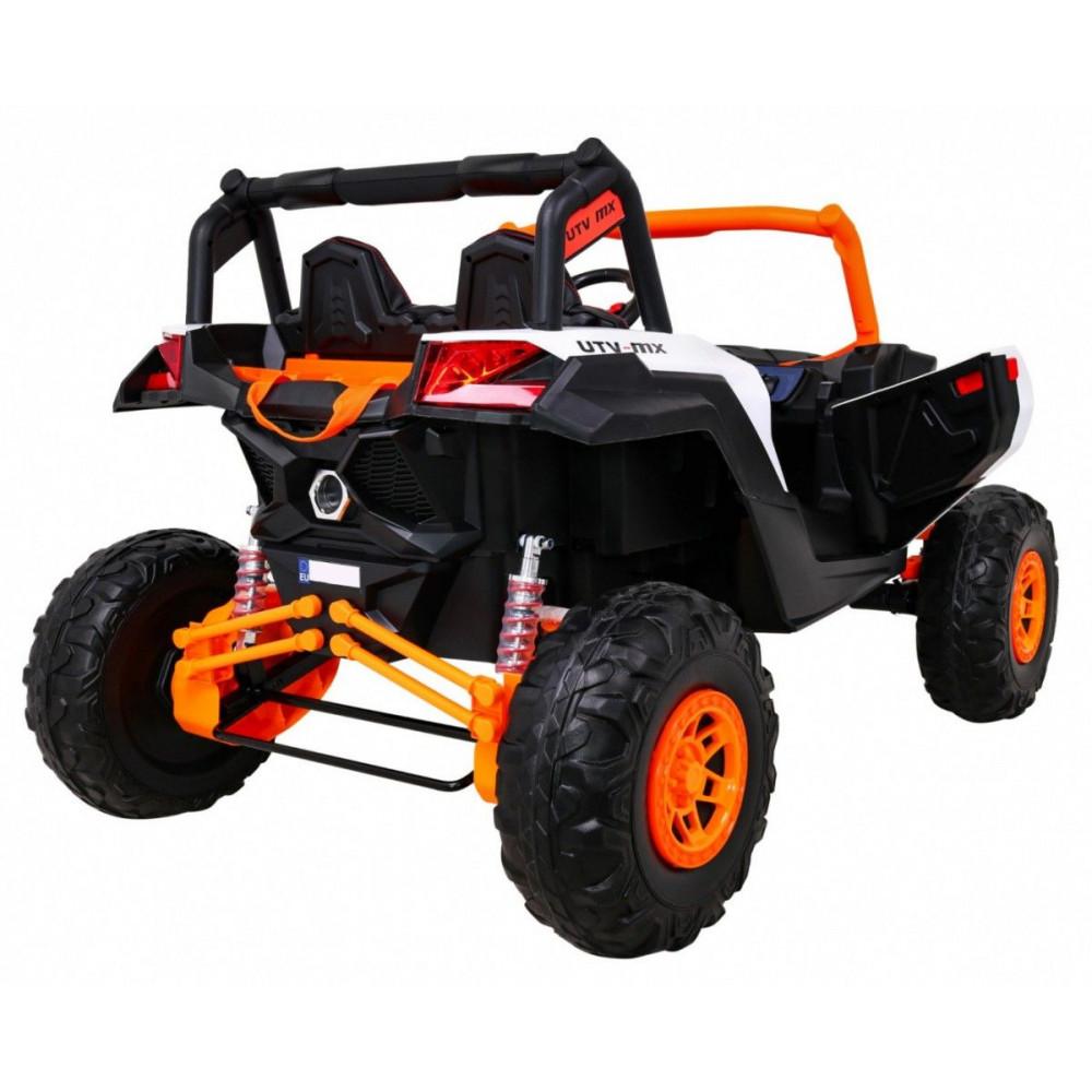 Elektrické autíčka dvojmiestne - Elektrické autíčko UTV-MX STRONG - oranžová - 6