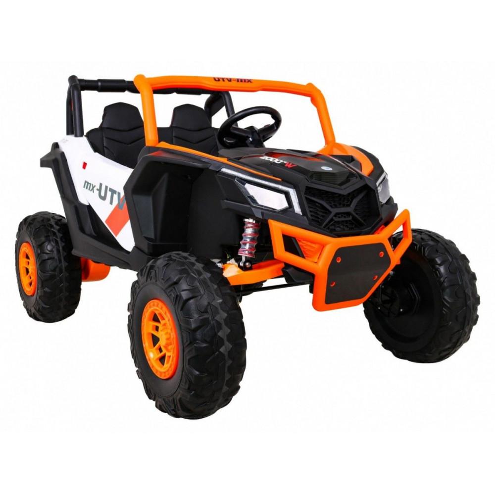 Elektrické autíčka dvojmiestne - Elektrické autíčko UTV-MX STRONG - oranžová - 7