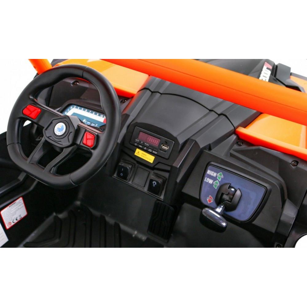 Elektrické autíčka dvojmiestne - Elektrické autíčko UTV-MX STRONG - oranžová - 11
