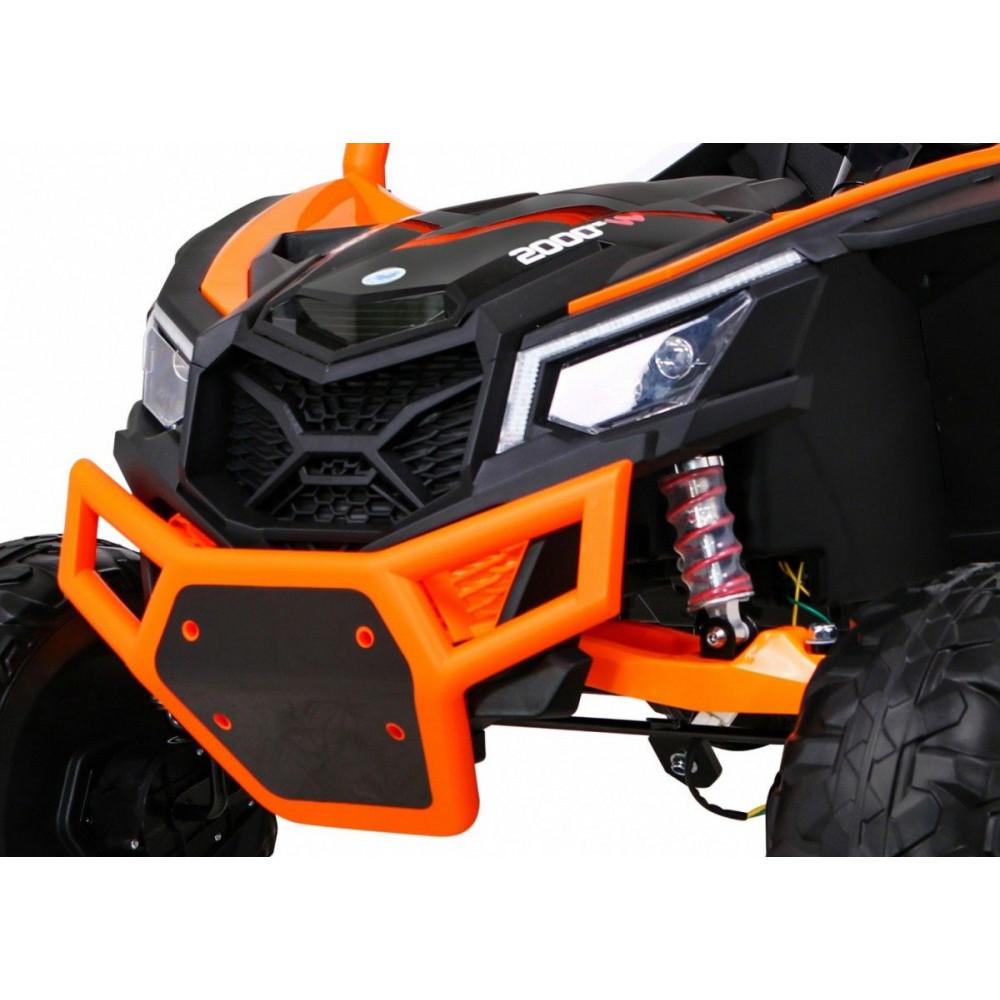 Elektrické autíčka dvojmiestne - Elektrické autíčko UTV-MX STRONG - oranžová - 12