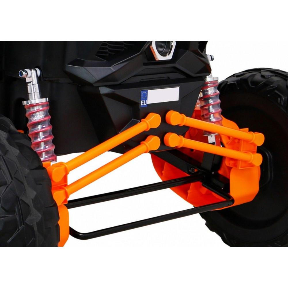 Elektrické autíčka dvojmiestne - Elektrické autíčko UTV-MX STRONG - oranžová - 14