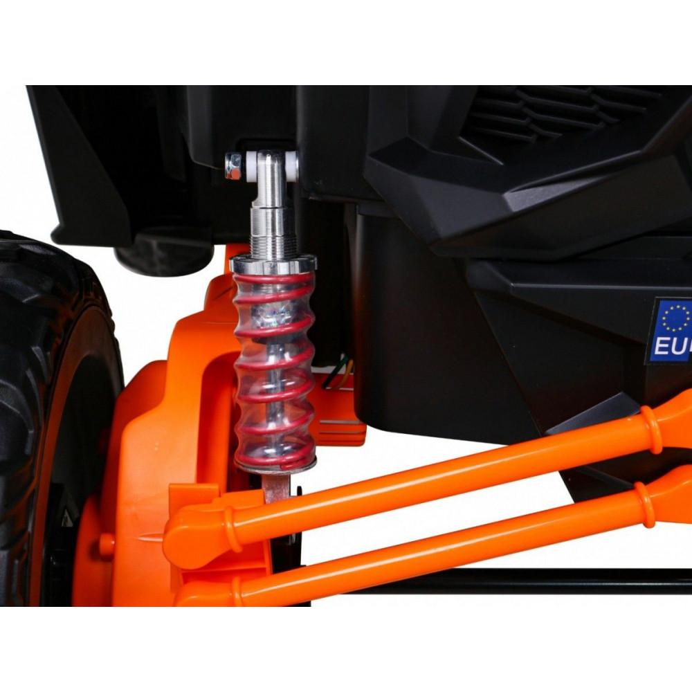 Elektrické autíčka dvojmiestne - Elektrické autíčko UTV-MX STRONG - oranžová - 15