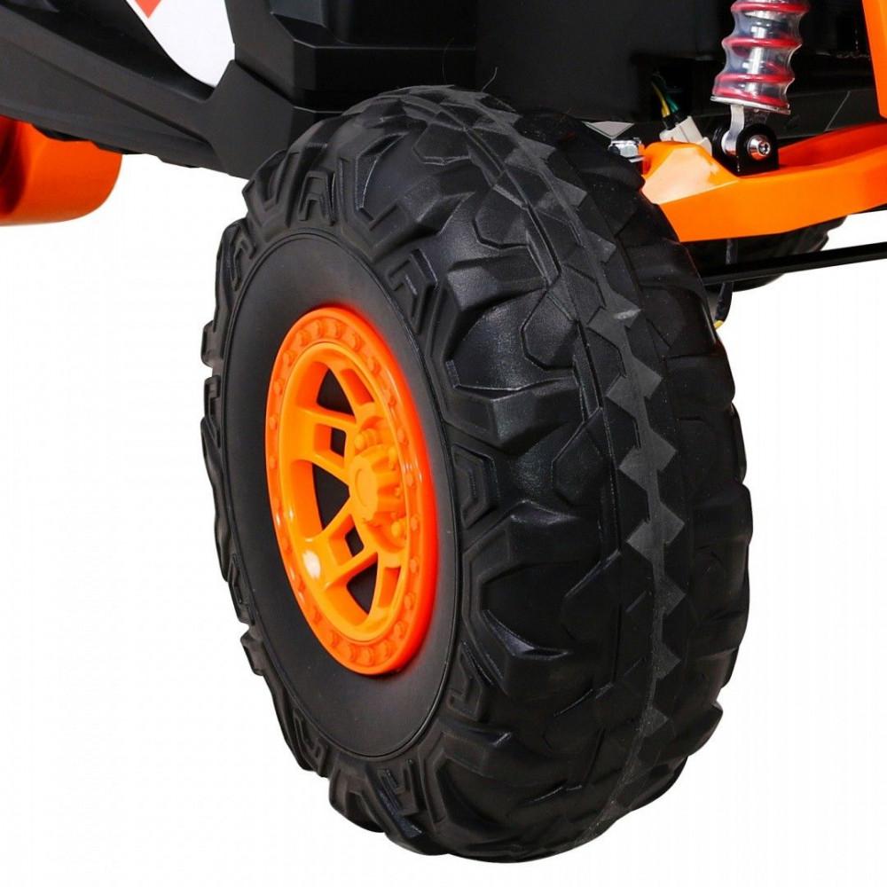 Elektrické autíčka dvojmiestne - Elektrické autíčko UTV-MX STRONG - oranžová - 16
