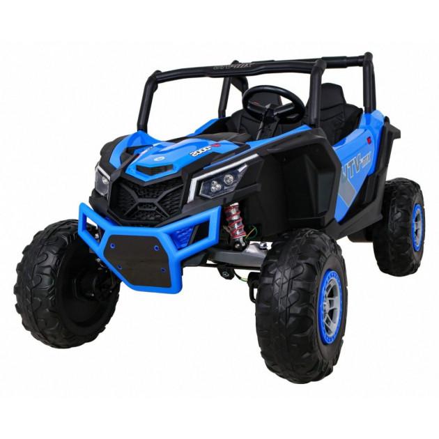 Elektrické autíčka dvojmiestne - Elektrické autíčko UTV-MX STRONG - modrá - 2