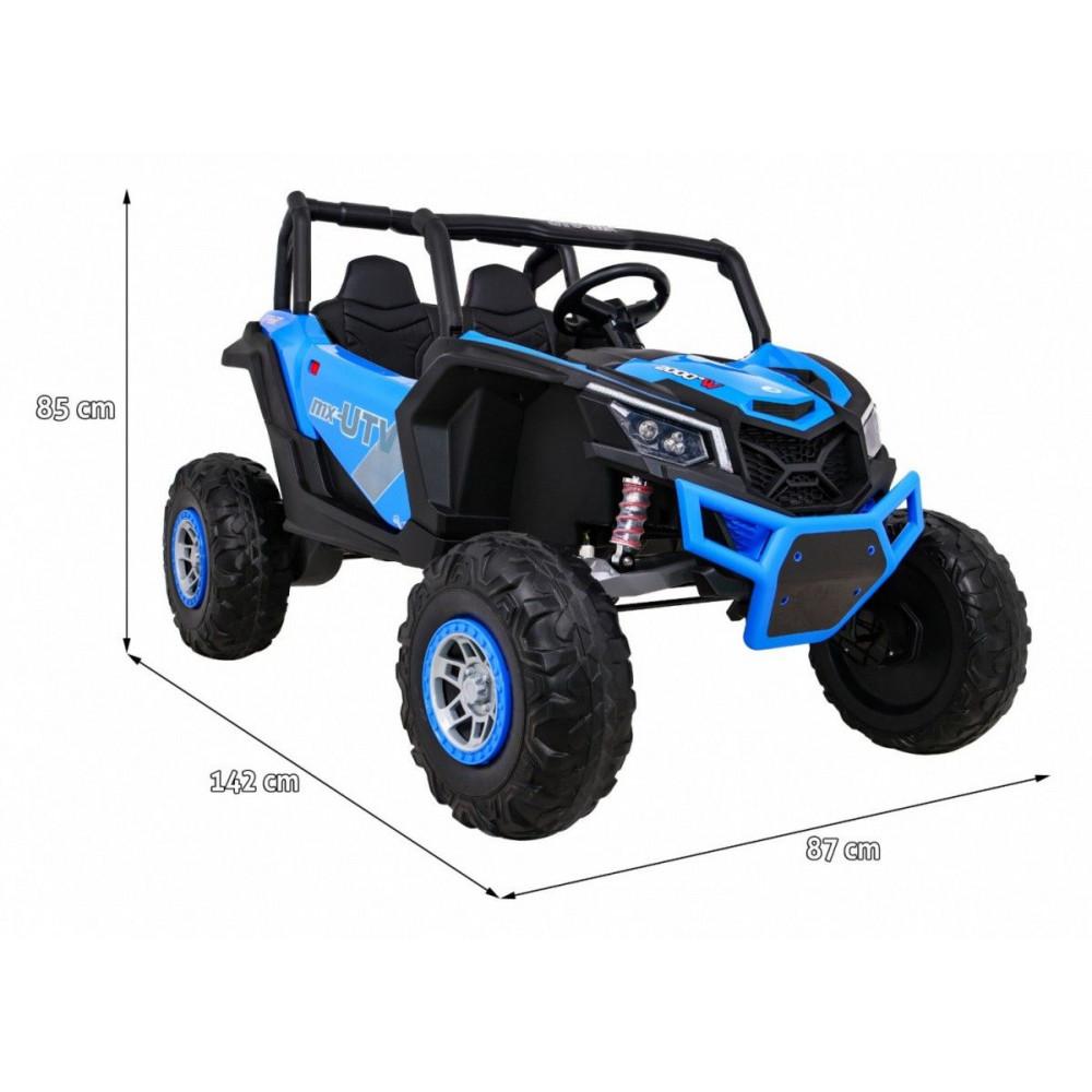 Elektrické autíčka dvojmiestne - Elektrické autíčko UTV-MX STRONG - modrá - 3