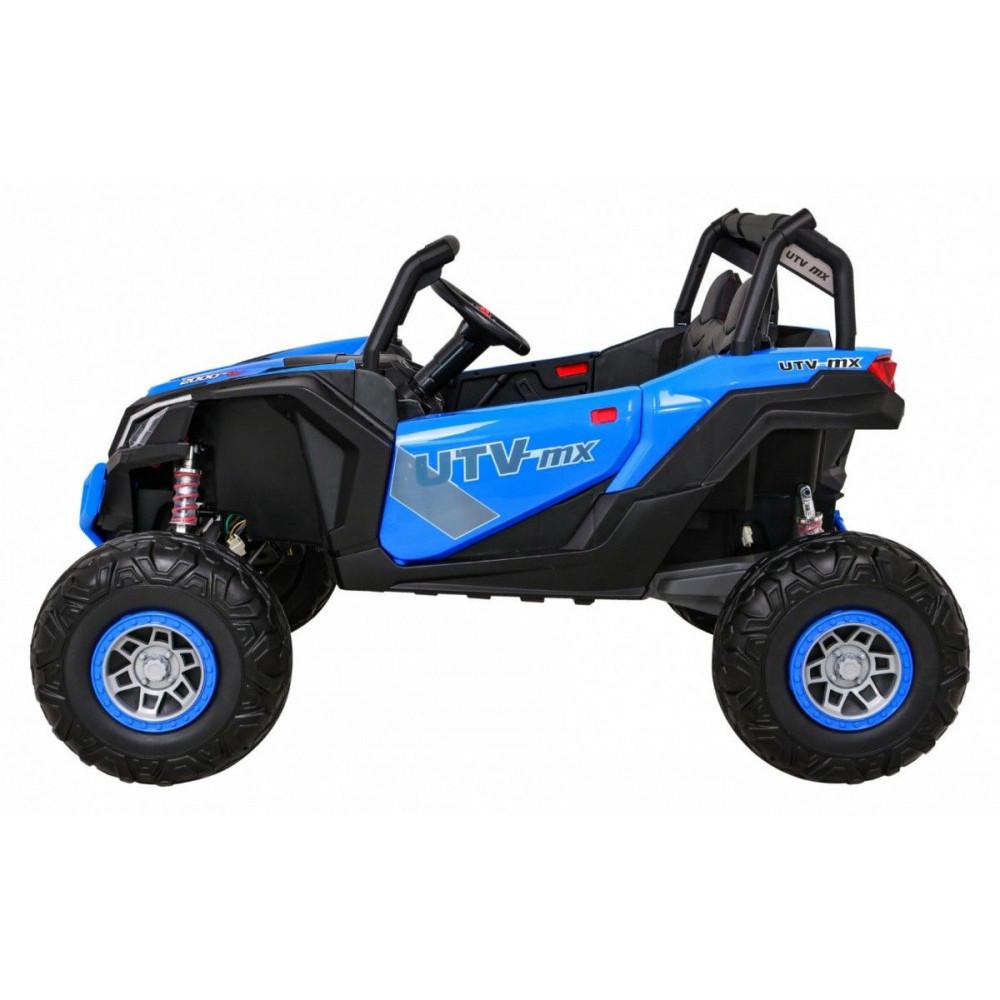 Elektrické autíčka dvojmiestne - Elektrické autíčko UTV-MX STRONG - modrá - 4