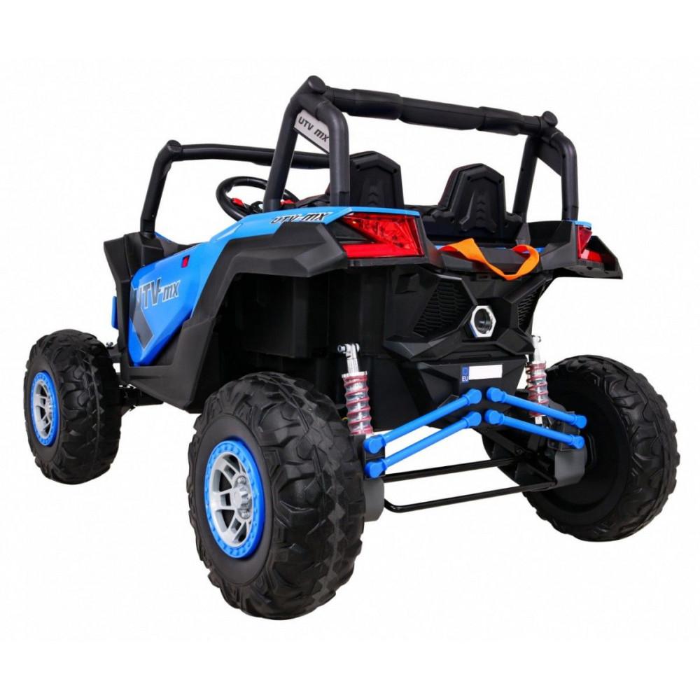 Elektrické autíčka dvojmiestne - Elektrické autíčko UTV-MX STRONG - modrá - 1