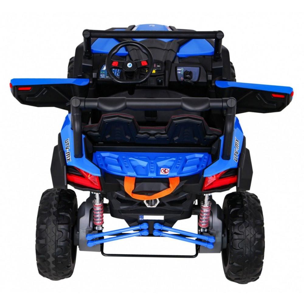 Elektrické autíčka dvojmiestne - Elektrické autíčko UTV-MX STRONG - modrá - 5