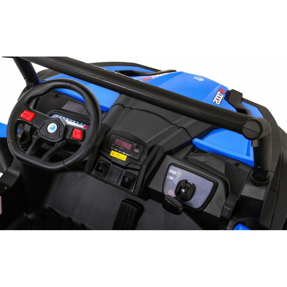Elektrické autíčka dvojmiestne - Elektrické autíčko UTV-MX STRONG - modrá - 10