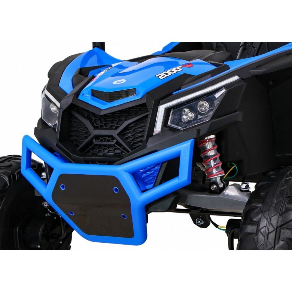 Elektrické autíčka dvojmiestne - Elektrické autíčko UTV-MX STRONG - modrá - 11
