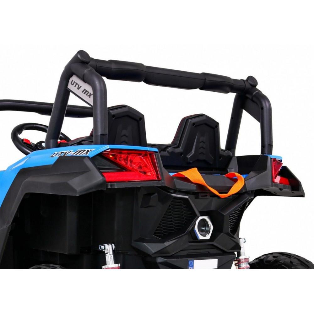 Elektrické autíčka dvojmiestne - Elektrické autíčko UTV-MX STRONG - modrá - 12