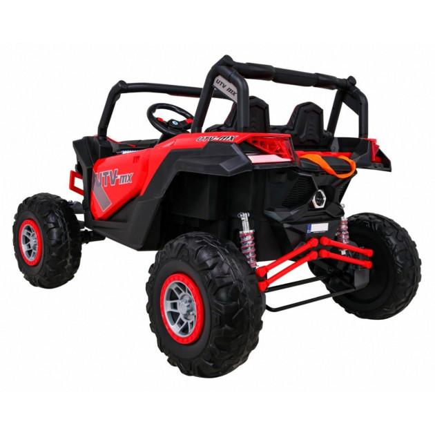 Elektrické autíčka dvojmiestne - Elektrické autíčko UTV-MX STRONG - červená - 1