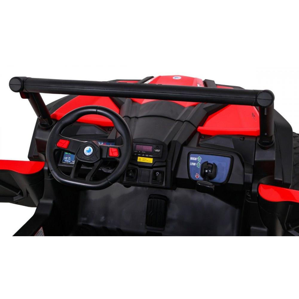 Elektrické autíčka dvojmiestne - Elektrické autíčko UTV-MX STRONG - červená - 11